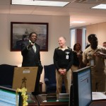 Meadowlark Lemon with 3 Star Vice Admiral Winns at the Navy Inspector Generals Office