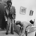 Meadowlark Lemon with Betty Ford 1974 in the White House