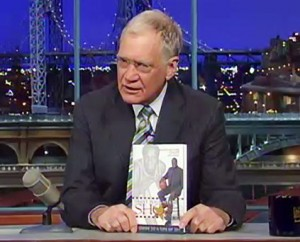 David Letterman with Trust Your Next Shot